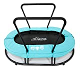 Skybound Children's Mini Indoor Trampoline with Handle (Kids with ADHD, Autism & Sensory Needs), Teal Blue