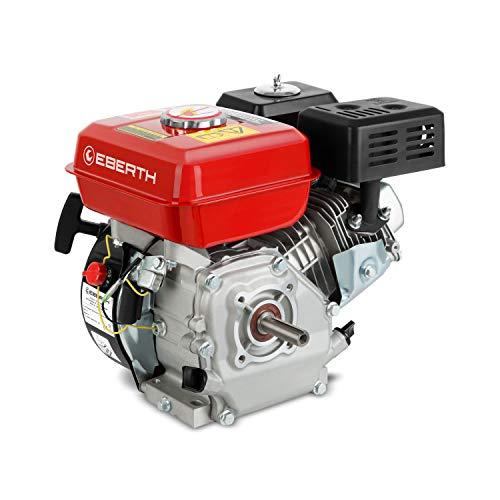 EBERTH 6,5 CV Motore a Benzina (20 mm Albero, Motore a Scoppio 4 Tempi, 1 Cilindro, Raffreddato ad Aria, Protezione da Mancanza Olio, Avviamento a Strappo)