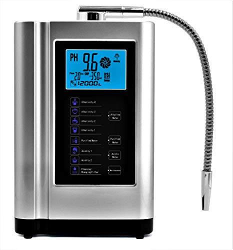 Alkaline Water Ionizer, Up to -500mV ORP, PH 3.5-10.5 Water Purifier Machine, Home Alkaline Water Filter with 7 Water Settings, 6000 Liters Per Filter,Auto-Cleaning,Intelligent Voice (silver)