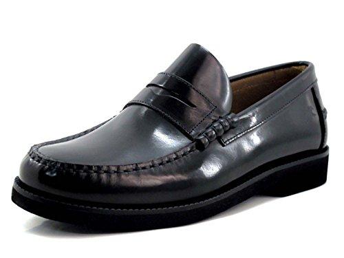 Fluchos | Mocasín de Hombre | Stamford F0047 Florentick Negro Zapato de Vestir | Mocasín de Piel de Vacuno de Primera Calidad | Cierre con | Piso de Goma Personalizado