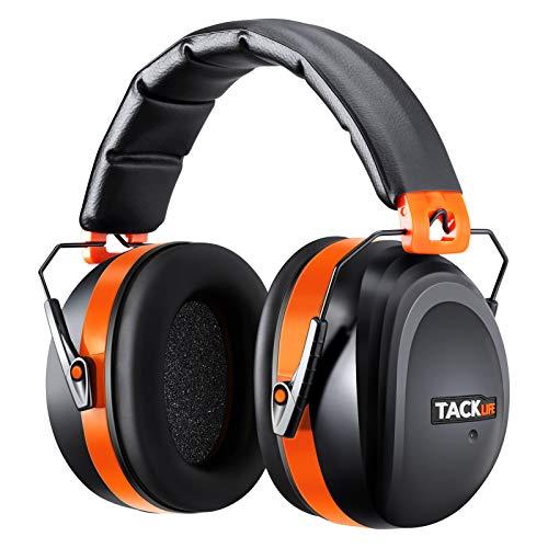 Tacklife Casque Anti-bruit Pliable Enfant Adulte, SNR 34dB/Protection Auditive/Certification CE/Confortable/Idéal pour Bricolage, Construction, Tir,...
