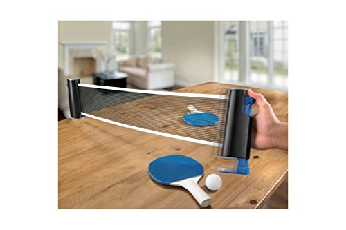 Emerson Table Top Tennis Set with Retractable Expandable Net