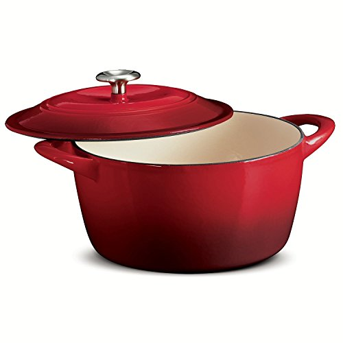 TRAMONTINA 6.5 Qt ROUND Dutch Oven OMBRE RED Enameled Cast Iron