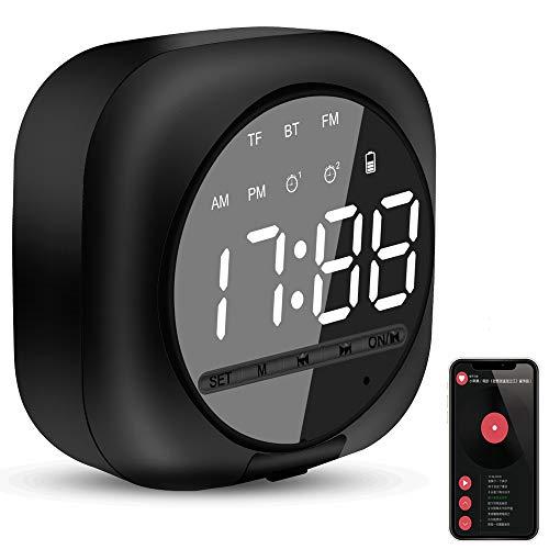 Reloj Despertador Digital con Altavoz Bluetooth Inteligente,...