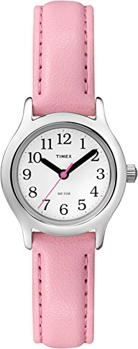 Timex Girls T79081 My First Easy Reader Pink Faux Leather Strap Watch