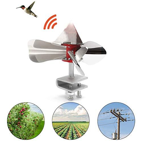 Sarplle Windkraft Vogelabwehr Vogel-Frei Windmühle Edelstahl Windenergie Bird Scarer 360 Grad Reflektierende Vögel Repellents für Haus, Garten und Bauernhof