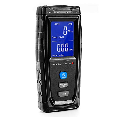 ERICKHILL EMF Meter, Rechargeable Digital...