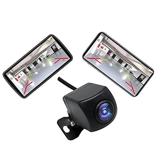 VISLONE Telecamera Posteriore Auto HD WiFi,Telecamera Retromarcia con Visione Notturna,Monitor di Retromarcia Wireless LCD Impermeabile IP67