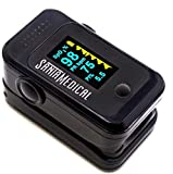 Pulse Oximeter Fingertip, Blood Oxygen Saturation Monitor (SpO2) with Pulse Rate Measurements and Pulse Bar...