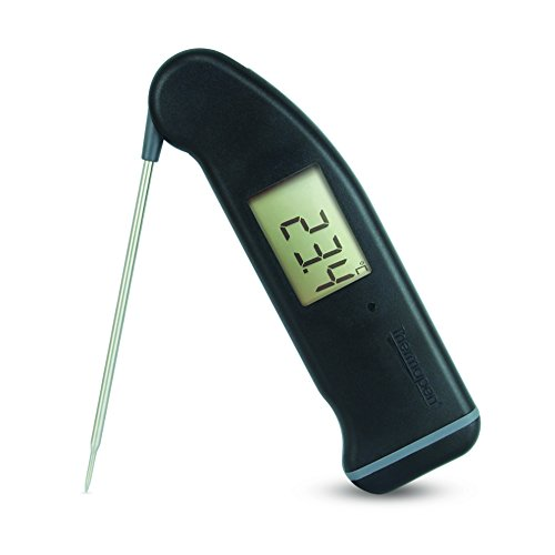 ETI SuperFast Thermapen 4 – Professionelles Thermometer mit 360°-Rotations-Display Schwarz