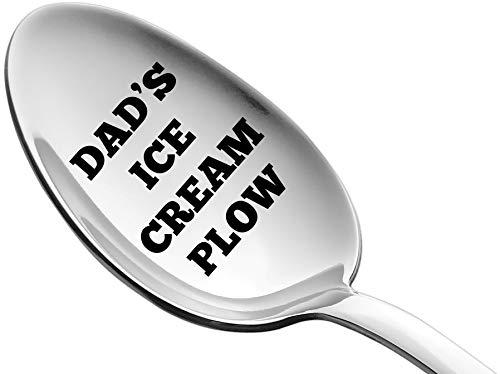 Weenca Engraved Spoon Dad's Ice Cream Plow Gift for Dad...