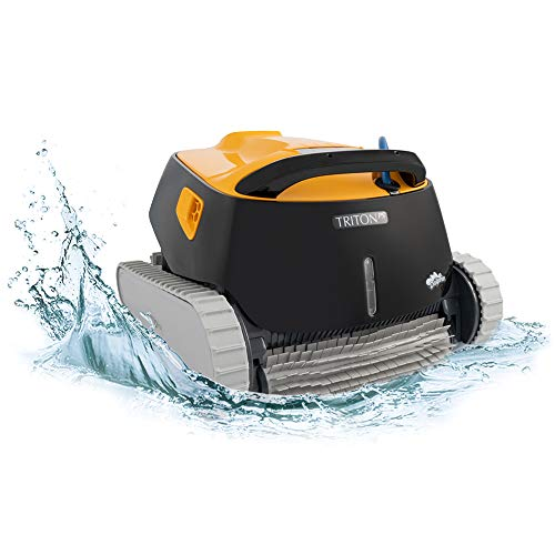 DOLPHIN Triton PS Robotic Pool [Vacuum] Cleaner - Ideal for In Ground Swimming Pools up to 50 Feet - Powerful Suction to Pick up Small Debris - Extra Large Easy to Clean Top Load Filter Basket