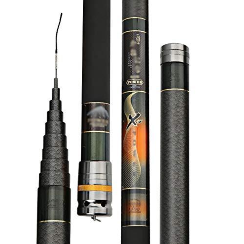 Canna da Pesca in Carbonio Ultraleggera, 8 9 10 11 12 13 14 Metri Super Hard 28 Strumenti di Pesca Portatili Retrattili (Dimensioni : 9)