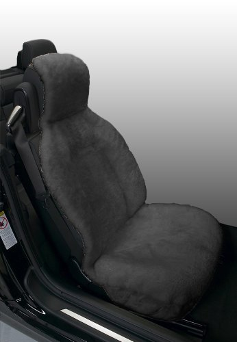 Eurow Genuine Australian Sheepskin Sideless Seat Cover - Gray