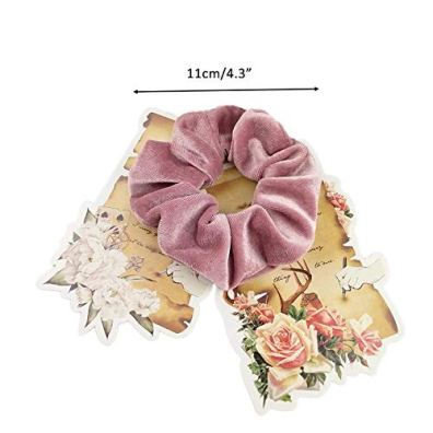 Trendy-Club-Fabric-Chiffon-Flower-Scrunchies-Ponytail-Holder-Hair-Accessories-for-Women-Multicolour-20-Colors-15-Pieces