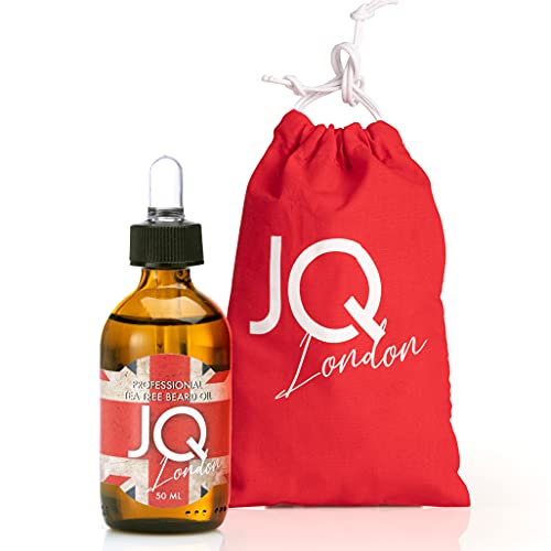JoyQube Olio da Barba Uomo Professional Nuova Formula Arricchita al Tea Tree Oil Beard Oil Naturale Idratante Rinfrescante Made in Italy 50ml