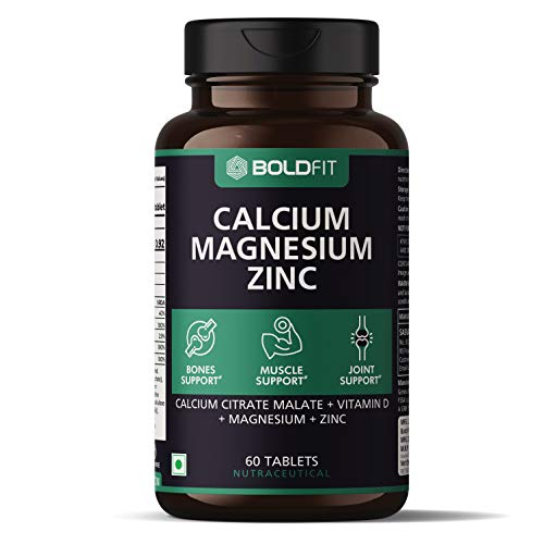 Boldfit Calcium Supplement 1000Mg for Women and Men with Magnesium, Zinc, Vitamin D and B12. Ideal...