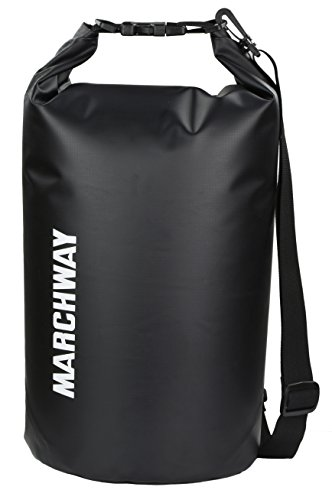 MARCHWAY Floating Waterproof Dry Bag Backpack 5L/10L/20L/30L/40L, Roll Top Dry Sack for Kayaking...