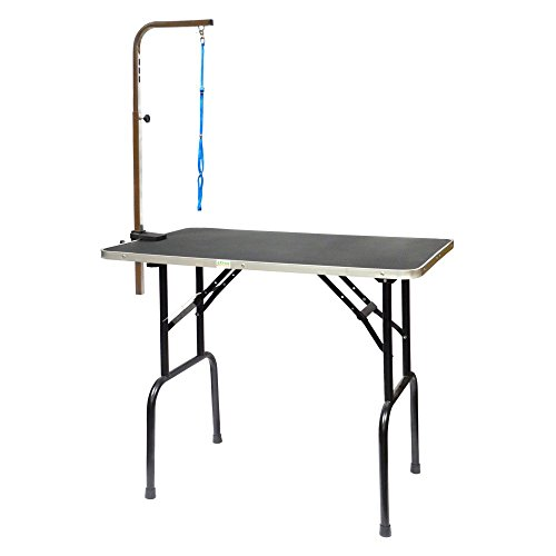 Go Pet Club Pet Dog Grooming Table with Arm,...