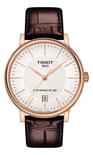 Tissot Herren-Uhren Analog Automatik One Size Leder 87603695