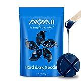 Hard Wax Beans, Hair Removal Wax Kit for Full Body, Brazilian Bikini, Underarms Legs, Face Facial Eyebrows, European Waxing Beads Blue Wax Refill (1lb/453g)