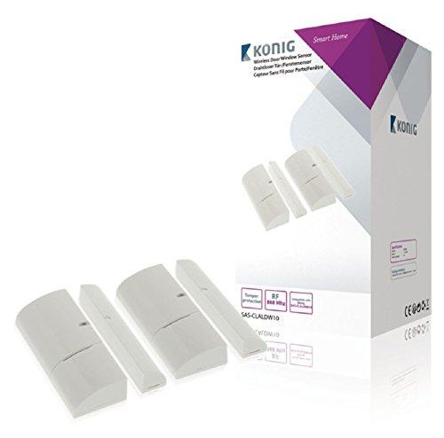 König SAS-CLALDW10 Sensore Wireless per Porte/Finestre per Sistemi Serie SAS-CLALARM10, Bianco