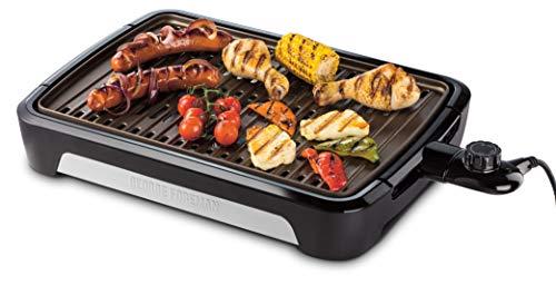 George Foreman 25850-56 Smokeless BBQ Grill, Niente Fumo per utilizzo in casa, Piastra e Vassoio...