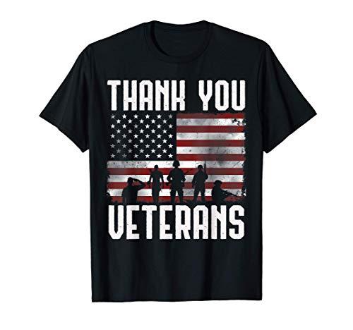 Veterans Day Shirt Gifts Thank You Veterans Tshirt Proud Tee T-Shirt