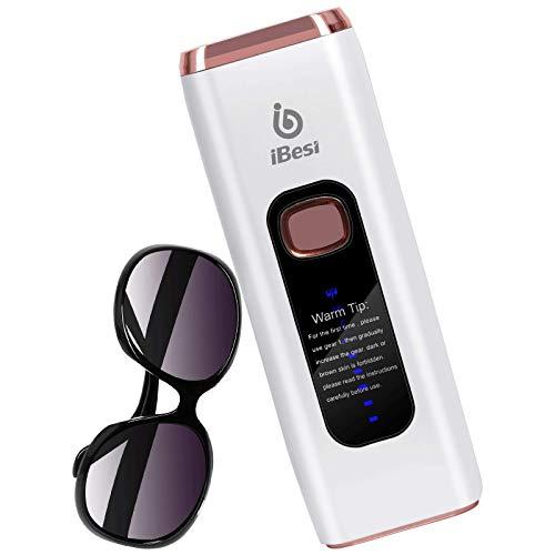 iBesi Epilatore Luce Pulsata IPL, 999.999 Flash Depilazione Permanente Con per Donne e Uomini, Epilatore Laser Professionale Indolore per Viso e Corpo