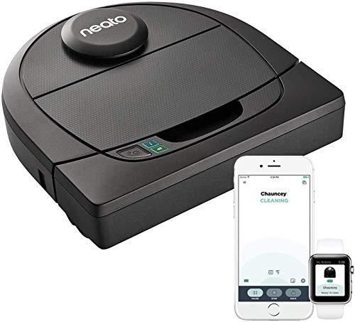 Neato Robotics D4 Aspirateur Robot Intelligent - Compatible avec Alexa - Robot aspirateur avec station de charge, Wi-Fi & App