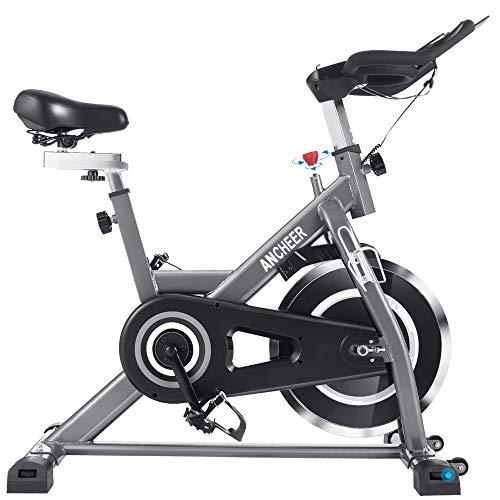 ANCHEER Heimtrainer Hometrainer Fahrrad Indoor Cycling Fitnessbikes, Verstellbarem Sitzkissen, 22KG Silent...