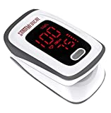 Fingertip Pulse Oximeter, Blood Oxygen Saturation Monitor (SpO2) with Pulse Rate Measurements and Pulse Bar...