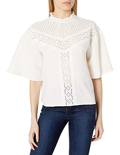 41bo1y7eHlL. SL500 Wide sleeve blouse with embroidered eyelet
