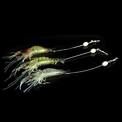 MAyouth 9cm luminosi esche in silicone morbido simulazione di gamberi gamberetti orata pesca richiamo gancio esca