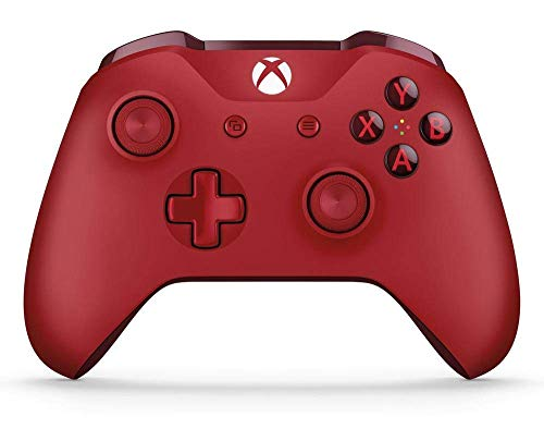 Microsoft - Mando Inalámbrico, Color Rojo (Xbox One), Bluetooth