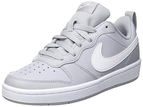 Nike Court Borough Low 2 (GS), Scarpe da Basket, Wolf Grey/White, 38.5 EU