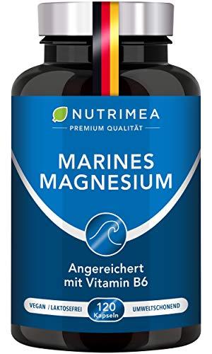 MAGNESIUM⎟Vitamin B6⎟Komplex Magnesiumoxid Elementares Oxid Meersalz⎟Gegen Müdigkeit Stress Anspannung⎟300 mg elementar je Tagesdosis⎟Pulver Kapseln VEGAN⎟NUTRIMEA