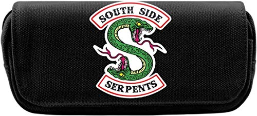 Lelesta Riverdale Southside Serpents Tela Astuccio Organizzatore con doppia cerniera Grande capacit Penna borsa per studente Ufficio Universit Scuola media Superiore (A)