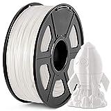 PLA+ 3D Printer Filament, JAYO PLA Plus Filament 1.75 mm, Dimensional Accuracy +/- 0.02 mm, 1 KG Spool, PLA+ White