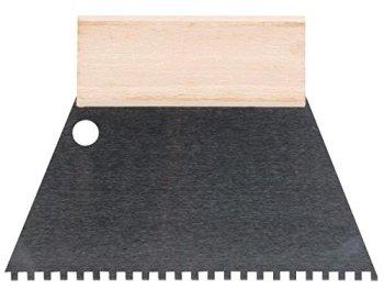 TOOLLAND–he924180Spatule à dents, 4mm x 4mm, 180mm de largeur