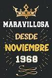 Maravillosa desde Noviembre 1968: 53 Cumpleaños Regalo Para Hombre, Mujer, la...