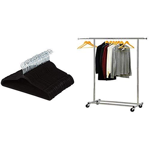 AmazonBasics Velvet Non-Slip Suit Clothes Hangers