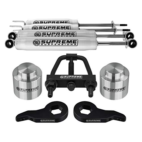 Supreme Suspensions - Complete 3 Inch Suspension Lift Kit with Shock Absorbers for 2000-2006 Chevy Suburban/Tahoe/Avalanche and GMC Yukon 1500 PRO KIT [Unloading Tool Included]
