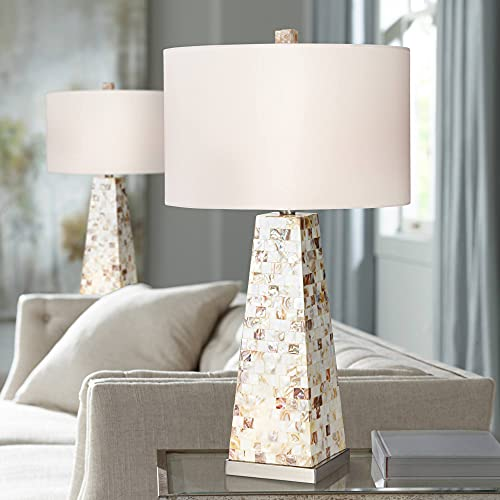 Lorin Coastal Table Lamps Set of 2 with Nightlight Mother of...