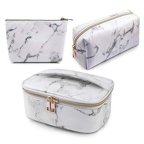 MAGEFY 3Pcs Makeup Bags Portable Travel Cosmetic...