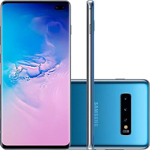 "Smartphone Samsung Galaxy S10+ 128GB Dual Chip Android 9.0 Tela 6.4"" Octa-Core 4G Câmera Tripla Traseira 12MP + 12MP + 16MP - Azul"