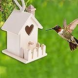 Goodplan Ogquaton Premium Herz Vogelfutterhaus Vogelfutterhaus Vogelfutterhaus Vogelfutterhaus Vogelfutterhaus im Freien hängend Gartendeko Loch Haus Nische Handwerk