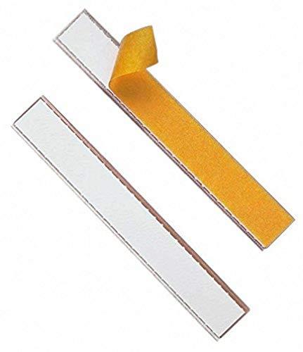 Durable 802019 - Labelfix, Porta Etichetta Adesivo, Aperto su Entrambi i Lati, 200 x 20 mm, Trasparente, Confezione da 10 Pezzi