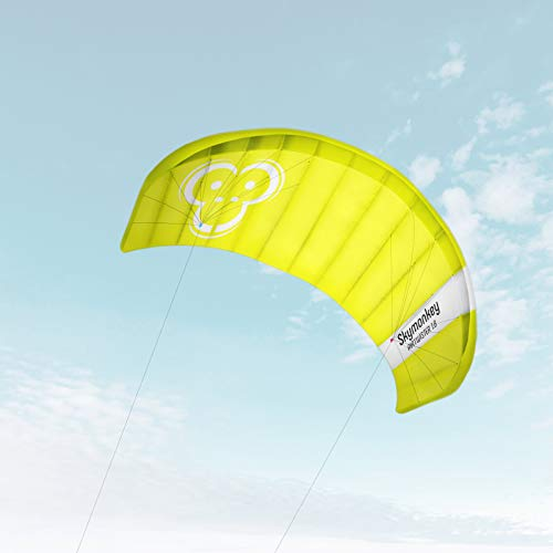"""Skymonkey Airtwister 1.8 Lenkmatte mit Flugschlaufen \""""Ready 2 Fly\""""- 180 cm [grün-gelb]"""