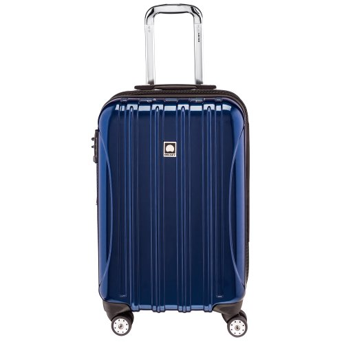 DELSEY Paris Helium Aero Softside Expandable Luggage with Spinner Wheels, Blue Cobalt, Carry-On 21 Inch